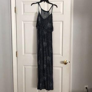 Blueish grey spaghetti strap dress
